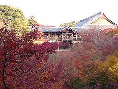 通天橋と紅葉